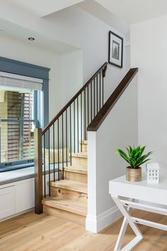 Stairway designed by Madeleine Design Group in Vancouver's historic West End neighbourhood.
