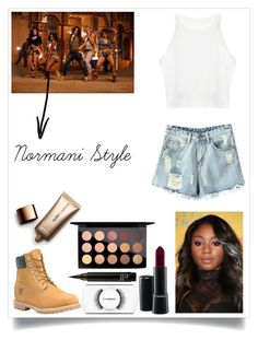 """""""Normani from 5H Style in """"Work from Home"""" music video"""" by ayannap ❤ liked on Polyvore featuring Timberland, Chicnova Fashion, MAC Cosmetics and Nude by Nature"""