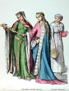 In the 12th century, the clothing of aristocratic women was trend-setting.