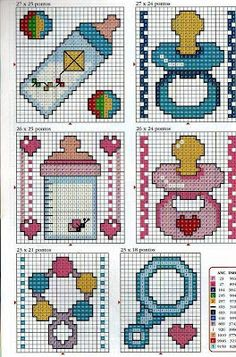 Baby x-stitch pattern Baby Cross Stitch Patterns, Cross Stitch For Kids, Cross Stitch Cards, Cross Stitch Baby, Cross Stitch Designs, Cross Stitching, Cross Stitch Embroidery, Beading Patterns, Embroidery Patterns