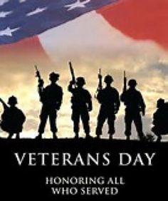 Happy Veteran's Day! #VeteransDay