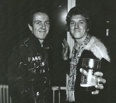 Joe Strummer and Steve Jones
