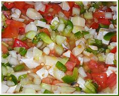 This Conch Salad is one of the best conch recipes we& tried. An excellent salad with plenty of heat and spice! The conch is cooked by the citric acids! Conch Recipes, Fish Recipes, Seafood Recipes, Salad Recipes, Cooking Recipes, Yummy Recipes, Carribean Food, Caribbean Recipes, Seafood