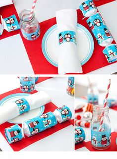 Super Cute Kids Christmas Table Printables | Click Pic for 18 DIY Christmas Table Centerpiece Ideas | DIY Christmas Table Decoration Ideas