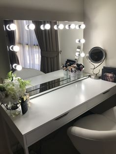 The Allure is the largest mirror in our collection and is certain to make a statement in any beauty lovers space. Our lighting technology radiates your true beauty from within and ensures makeup application is flawless every time. Features Large Mirrored surface (1m) 12 x 24v 3w dimmable LED Light Bulbs Lighting temperature 6500k Touch screen dimmable Mirrored table stand Easy to operate Copper Free Mirror 1 Year Warranty | Pinned by: @900ks