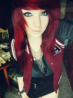 Okay I want to dye my hair this one #red #scene