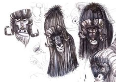 Some cool musk ox sketches