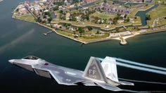 OVER VIRGINIA -- Lt. James Hecker flies over Fort Monroe before delivering the first operational Raptor to its permanent home at Langley Air Force Base, Va., on May This is the first of 26 Raptors to be delivered to the Fighter. Airplane Fighter, Fighter Aircraft, Fighter Jets, Stealth Aircraft, Fighter Pilot, Military Jets, Military Aircraft, Military Weapons, Raptors Wallpaper