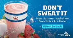 Summer Hydration Smoothies : Smoothie King Smoothie King, Smoothies, Promotion, Drinks, Summer, Food, Smoothie, Drinking, Beverages