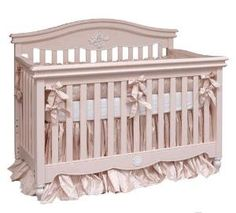 Pink and White Gingham Silk Dupioni Crib Bedding - Also Available in Blue - Free Shipping! $1,392.00 (USD)
