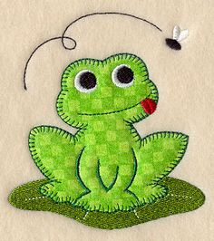 Frog (Heirloom Applique) - it would be cute to have a tongue flap.