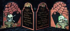 Graphic 45 Rare Oddities Halloween bottle -by Anne Rostad