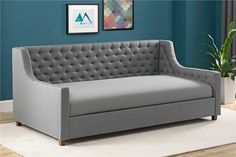 Upholstered Daybed Sofa Twin Sleeping Relaxing Couch Seat for sale online Furniture, Daybed, Room, Upholstered Daybed, Condo Furniture, Twin Mattress Size, Couch Seats, Interior Design Living Room, Upholstered Beds