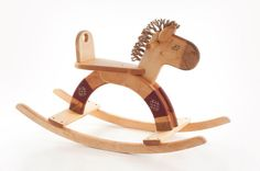 Rocking Horse wooden natural kids toy on Etsy, $164.25