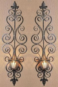 Antique Metal Candle Holders images