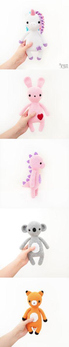 Crochet Patterns - Sweet Dreams Collection - Amigurumi Crochet Patterns Amigurumi, Crochet Toys, Knit Crochet, Easy Beginner Crochet Patterns, Crochet For Beginners, Half Double Crochet, Single Crochet, Yarn Ball, Pdf Patterns