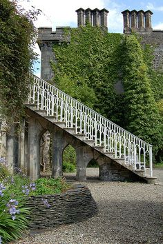 Armadale Castle Ruins - Chimneys Steps and Column  - Scotland