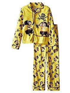 Despicable Me Boys Yellow Flannel Pajamas Pirate Minion Sleepwear Set 8 @ niftywarehouse.com #NiftyWarehouse #DespicableMe #Movie #Minions #Movies #Minion #Animated #Kids