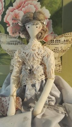 Fairies, Teddy Bear, Dolls, Rose, How To Make, Cotton, Animals, Faeries, Baby Dolls