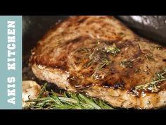 Baba ganoush + Steak   Akis Kitchen - YouTube