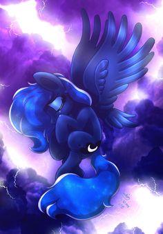 MLP FIM - Angel Luna In The Thunder Sky by Joakaha.deviantart.com on @DeviantArt