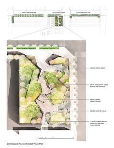 Zelkova Urban Garden and Streetscape Park   Architectural Drawings