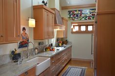 Artfully fit kitchen from Cayucos home of our friends the Franks