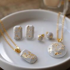 How to Make Concrete Jewelry and more DIY Gift Ideas