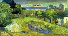 Van Gogh. Daubigny's Garden with Black Cat. Auvers-sur-Oise: July 1890