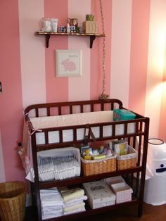 Pink Striped Nursery - Nursery Designs - Decorating Ideas - HGTV Rate My Space