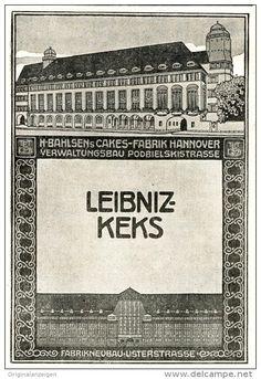 Original-Werbung/Inserat/ Anzeige 1912 - BAHLSEN HANNOVER / LEIBNIZ KEKS - ca. 90 x 135 mm