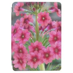 Red Primula Floral iPad Pro Cover - floral style flower flowers stylish diy personalize