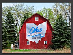 Ohio Bicentennial Barn    For Ohio's 200 year celebration, a barn in every county was painted with this Bicentennial logo This Barn is just down the road from Toledo Express Airport