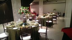 Many table arrangements can be set up for a number of different sized events at Downtown Philbrook!
