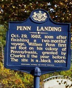 Penn's Landing Park  Stone dedicated November 9, 1882
