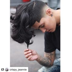( Love fading this girl hair I dose off it. Undercut Hairstyles Women, Short Hair Undercut, Hairstyles Haircuts, Short Hair Cuts, Cool Hairstyles, Short Hair Styles, Undercut Pompadour, Pixie Cuts, Her Hair