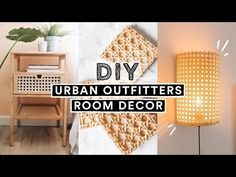 DIY URBAN OUTFITTERS ROOM DECOR + FURNITURE!! (Ikea Hacks) - YouTube