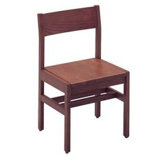 Russwood Select Series Wood Classroom Chair Foot Type: Nylon glide for tile, Frame Finish: Chestnut, Seat Height: 16""