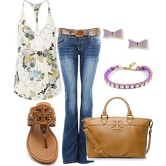 """Lilac Racerback"" by nikkilove19 on Polyvore"