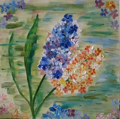 Beautiful Paintings Of Flowers, Canvas Board, Floral Motif, Spring Flowers, My Etsy Shop, Oil, Drawings, Nature, Check