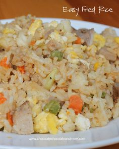 Easy Fried Rice-perfect for using up leftovers or just make it because you love Fried Rice!