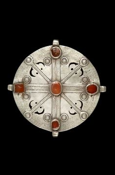 Iran | Woman's pectoral ornament; silver and carnelian. // ©Quai Branly Museum. 71.1991.281.238