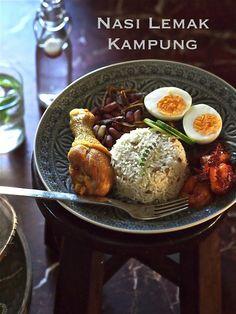 Rice Recipes, Asian Recipes, Cooking Recipes, Ethnic Recipes, Asian Foods, Cafe Food, Food Menu, Food Flatlay, Malay Food