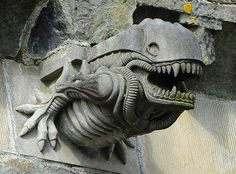 Finding an Alien Xenomorph Gargoyle on Your Church Can't Bode Well