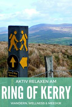 Der Ring of Kerry ist eine der beliebtesten Wanderregionen in Irland. Mit über 200 km ist der Kerry Way der längste Wanderweg in Irland. Sein Start- und Endpunkt ist Killarney, von dort führt der Kerry Way gegen den Uhrzeigersinn um die Halbinsel Iveragh. Dabei durchquert er einige der abgelegensten und dramatischsten Landschaften in Irland, von den Seen des Killarney Nationalparks über Bergpfade, durch Moore und Wälder bis zur wilden Atlantikküste.