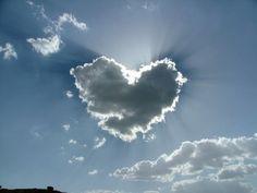 silver lining heart cloud