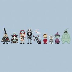 The Nightmare Before Christmas Cross Stitch por pixelsinstitches