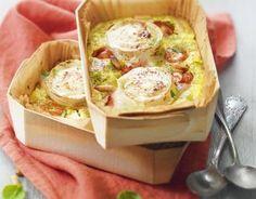 Recette - Petits clafoutis aux tomates cerise, pesto et bûche de chèvre Chavroux®   750g