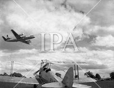 1957 - Air Display at Weston, Leixlip, Co. History Photos, Photo Archive, More Photos, Ireland, Irish, Military, Events, Display, Fine Art