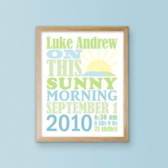 Birth Date Name Print Free Personalization and by InkTreePress